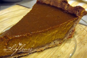 The BEST slice of gluten free, dairy free pumpkin pie... all it needs is a little coconut whipped cream!